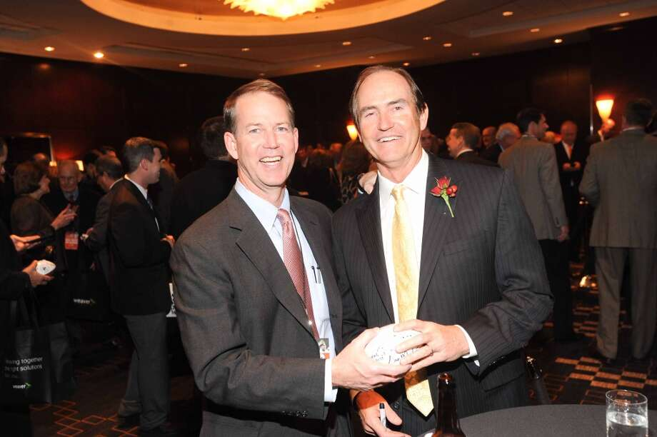 Marc Bryant Tyson and Art Briles at the Paul Bear Bryant Annual Awards benefiting the American Heart Association. Photo: Alexander's Fine Portrait Design