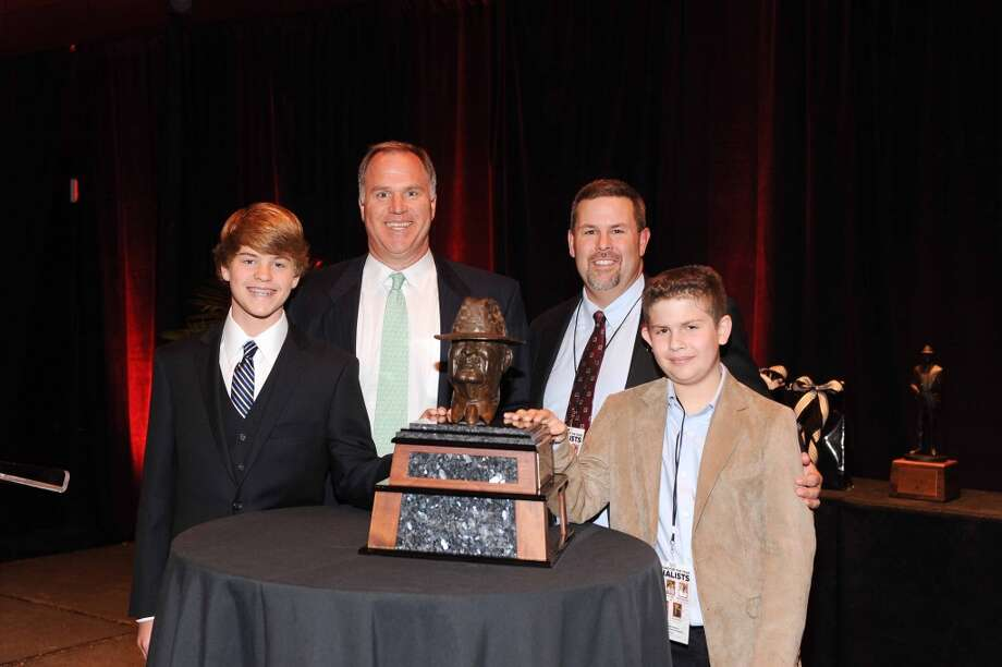 Ross Dawson, Doug Dawson, Jay Graham and Jacob Graham Jan. 15 at the Paul Bear Bryant  Awards. Photo: Alexander's Fine Portrait Design
