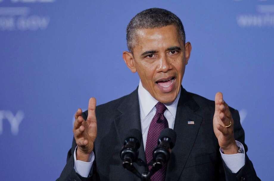 President Barack Obama was the butt of 1,011 jokes by Jay Leno. Photo: Manuel Balce Ceneta, AP / AP