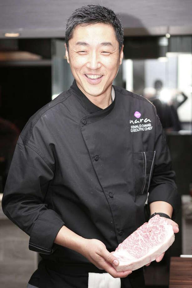 Donald Chang of Nara preparing food at the chef's table.  (Courtesy photo / Nara) Photo: Courtesy Photo, Nara