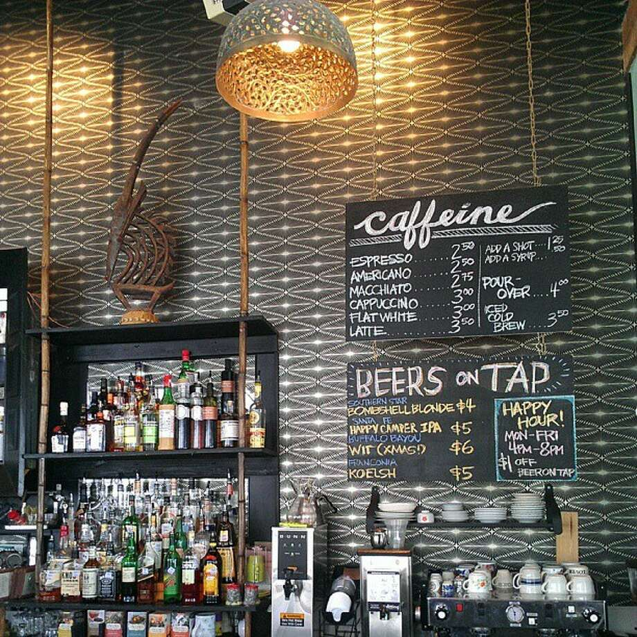 Double Trouble Caffeine and Cocktails on Main St. would make a great end to your caffeine crawl. They also serve alcohol. Photo: Craig Hlavaty