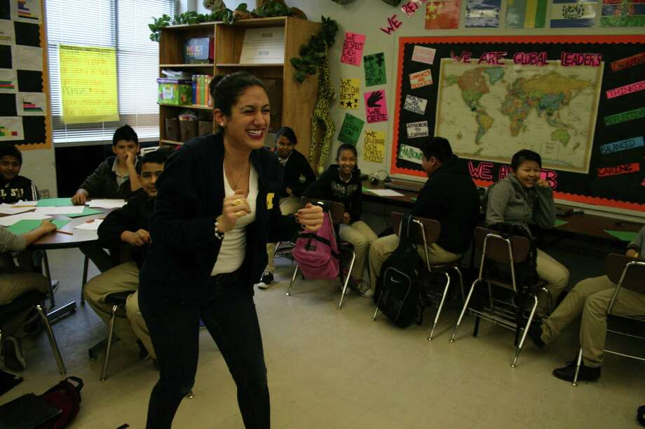 Fondren Middle School math and English as a second language teacher, Parisa Behzadi said she seeks to stimulate  enthusiasm for learning among her students. Photo: Tom Behrens