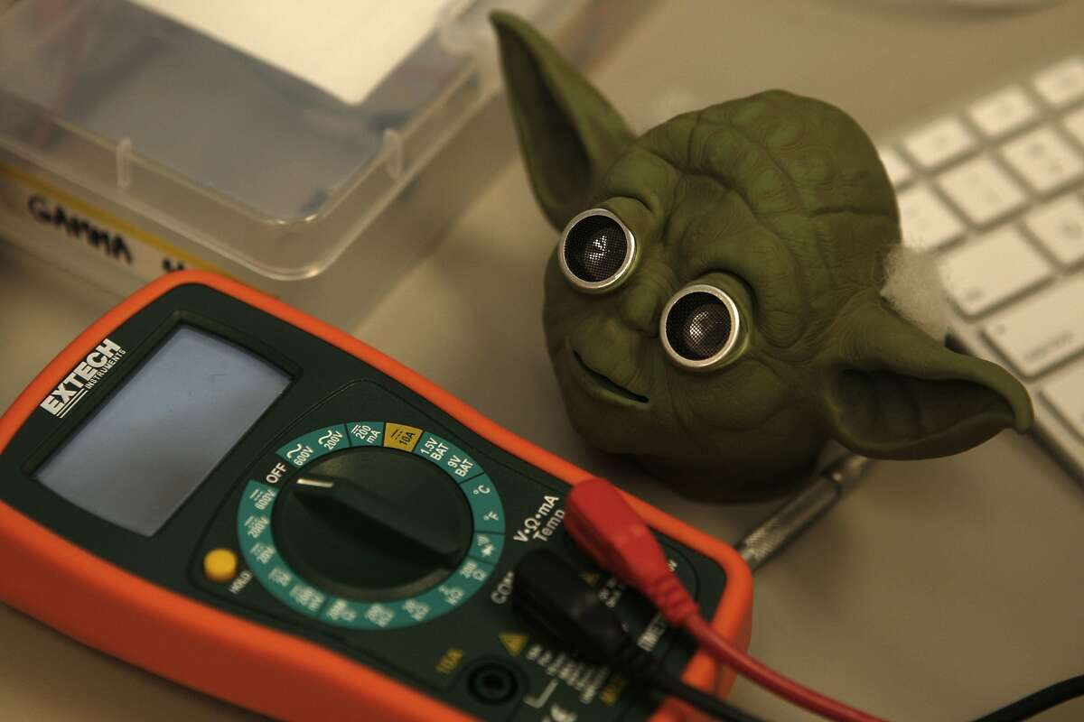 Students in one of Glenn Corey's classes found an imaginative new use for a Yoda head from a