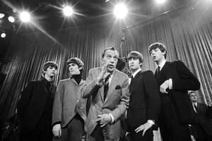 """The Beatles arrived in the United States 50 years ago on Feb. 7, 1964. The group made its first live television show appearance in the U.S. on the """"Ed Sullivan Show"""" on Feb. 9, 1964. ROCK AND ROLL MUSICIANS, BRITISH POP, ON TELEVISION """"ED SULLIVAN SHOW"""" U.S. TOUR FASHION CENTURY SHOWCASE"""