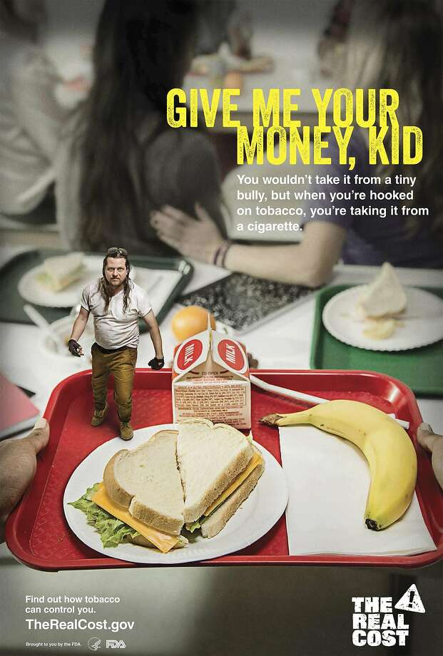 A poster depicting a bully is part of the Food and Drug Administration's new antitobacco campaign. Photo: Handout, Reuters