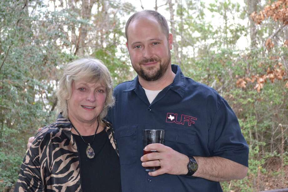Southern Star Brewing Co. founder Dave Fougeron and Charlotte Rowell, the late Ash Rowell's mother, attend the ceremony. Photo: Ronnie Crocker