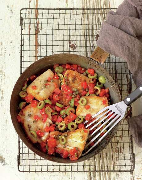 Red Snapper With Olives, Tomatoes and Capers. Photo: Ben Fink / Ben Fink