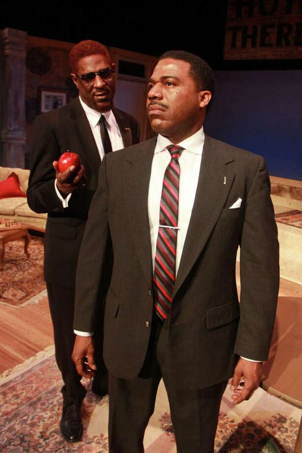 The Meeting: Jeff Stetson's play imagines a meeting between civil rights leaders Martin Luther King Jr. and Malcolm X, debating their different methods of fighting social injustice. 7:30 p.m. Wednesdays, 8 p.m. Fridays-Saturdays, 2 and 8 p.m. Saturdays, 3 p.m. Sundays, through Feb. 23; the Ensemble Theatre, 3535 Main; Tickets: $19-$44; 713-520-0055, ensemblehouston.com. Photo: Gary Fountain, Freelance / Copyright 2014 Gary Fountain.