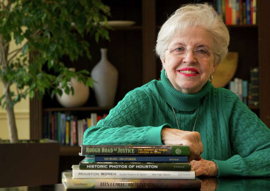 Betty Trapp Chapman considers herself a historian and not an author, despite the books she has written on Houston history. Photo: Brett Coomer, Staff / © 2014 Houston Chronicle