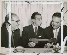 wayback17  Ben Swig, Eddie Cantor, and Mayor George Christopher in S.F. in 1957.