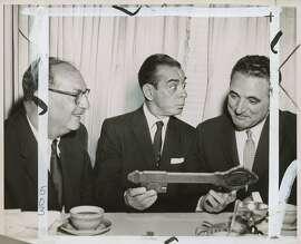 wayback17  Ben Swig, Eddie Cantor, and Mayor George Christopher in S.F. in 1957.