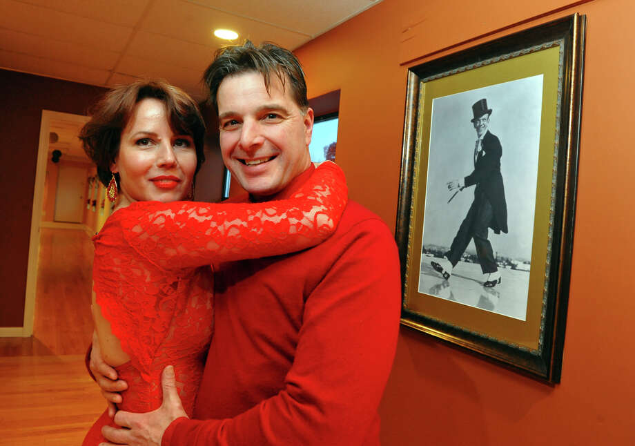 Monika Barska and her fiance Henry Skopp pose at the Fred Astaire Dance Studio of Southport in the Southport section of Fairfield, Conn. on Tuesday February 4, 2014. The grand opening was Saturday  February 8th. Photo: Christian Abraham / Connecticut Post