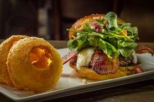 "The ""Fresno Fig Burger"" at Eureka restaurant in Berkeley, Calif., is seen on February 1st, 2014."