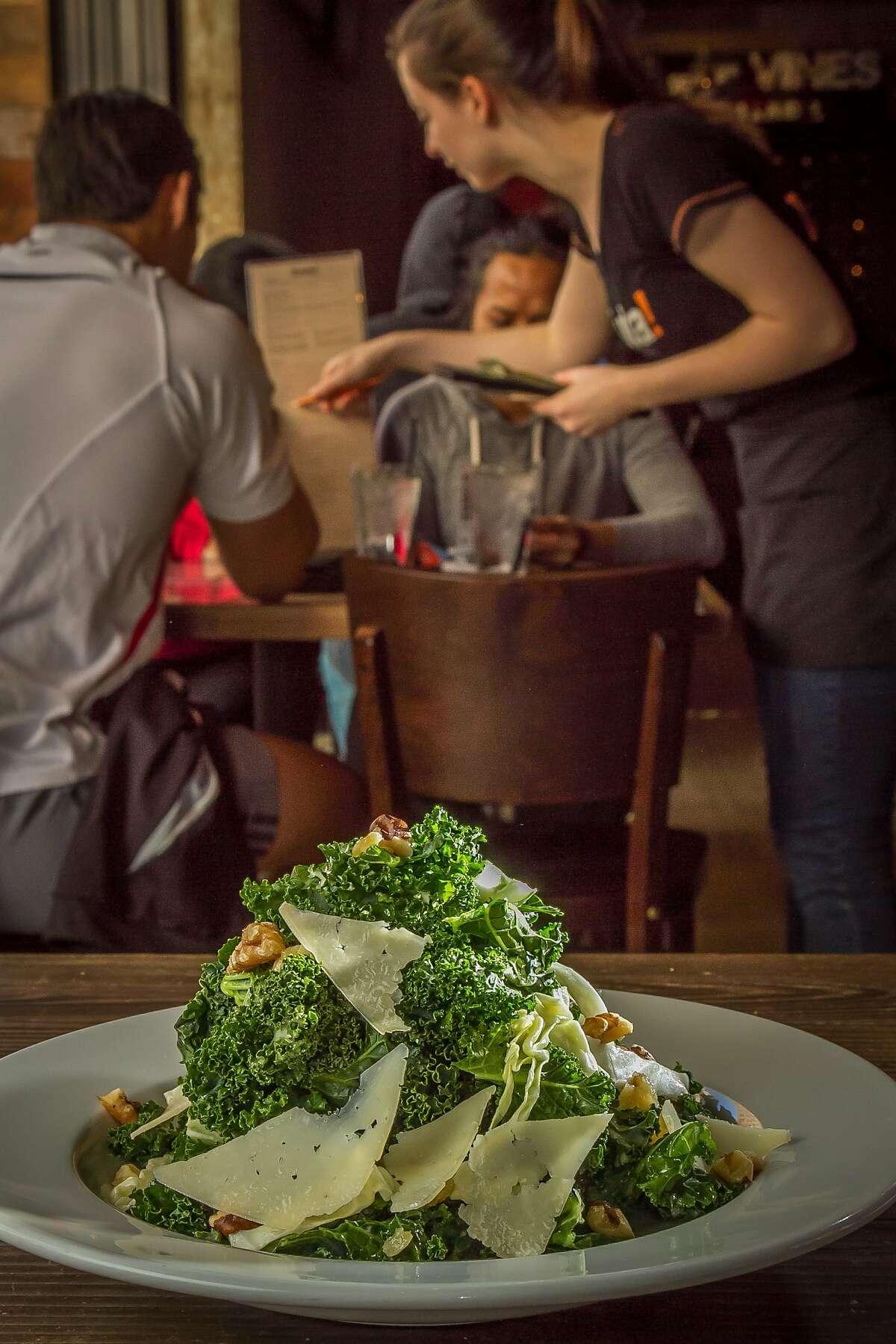 The Santa Barbara Kale Salad at Eureka restaurant in Berkeley, Calif.