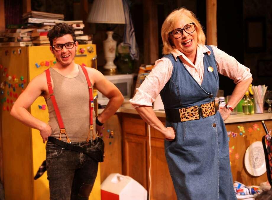 "Jax Jackson and Nancy Opel in Taylor Mac's ""Hir"" at Magic Theatre. Photo: Jennifer Reiley"
