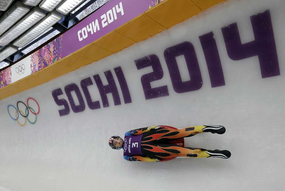 First-time Olympian Kate Hansen of the United States completes a training run on the Sochi luge track, which is considered the longest in the world. Photo: Michael Sohn, Associated Press