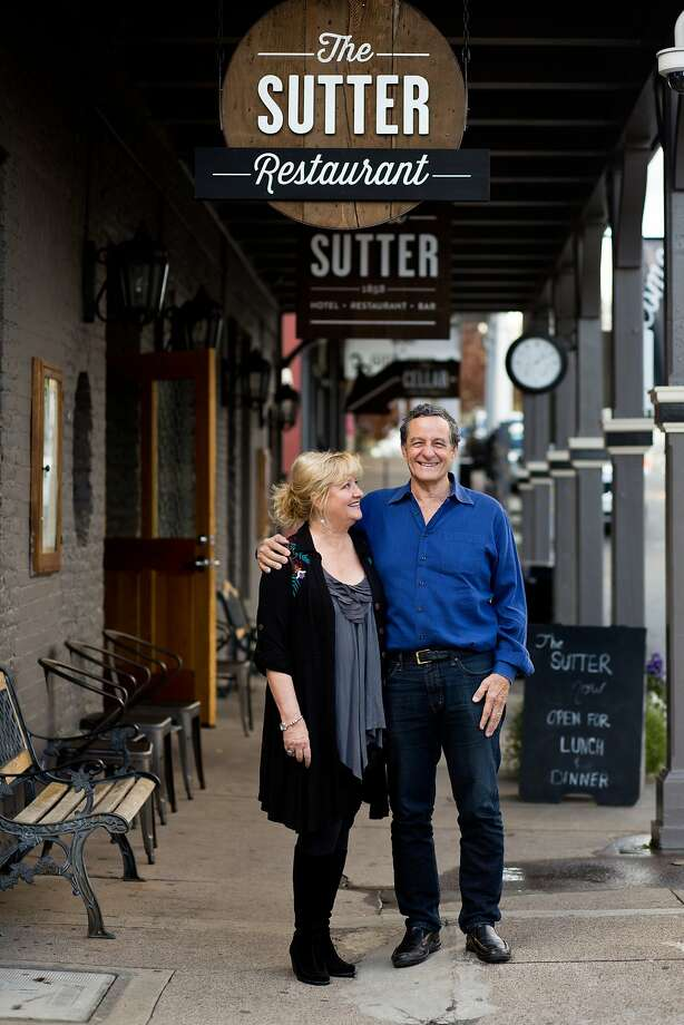 Karen Sage and Chuck Laughlin, above, renovated Hotel Sutter, which offers 25 rooms, and features the cooking of chef Darius Somary, who worked at Oliveto in Oakland and owned SpringLoaf Catering in Lafayette. Photo: Jason Henry, Special To The Chronicle