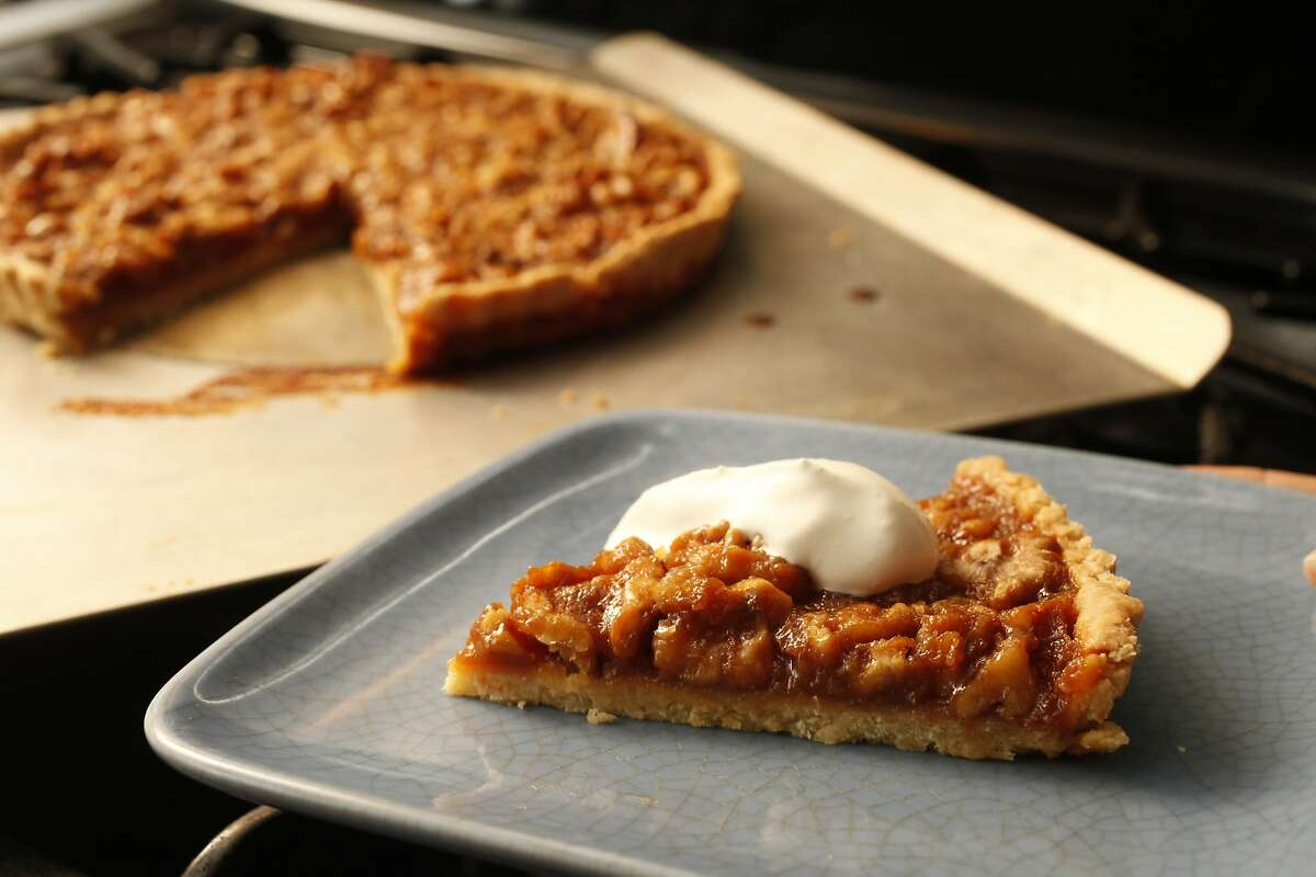 Walnut Honey Tart as seen in San Francisco, California on Wednesday, January 29, 2014. Food styled by Lauren Reuthinger.
