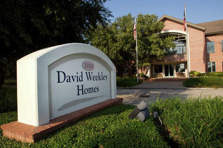 The exterior of the offices of David Weekley Homes is shown Tuesday, Oct. 2, 2012, in Houston. ( Brett Coomer / Houston Chronicle ) Photo: Brett Coomer, Houston Chronicle / © 2012 Houston Chronicle