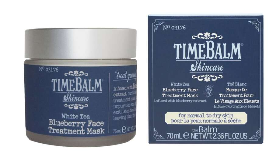 Blueberry Face Treatment Mask. Like us, Shipman loves clay masks, but she wanted something that would do more than the typical (drying) detox. Genius. So she added antioxidants to replenish distressed and fatigued skin. Result? In addition to the clarifying effects of a mask, this leaves skin moisturized, rather than zapped. www.thebalm.com, $22 Photo: TheBalm Cosmetics