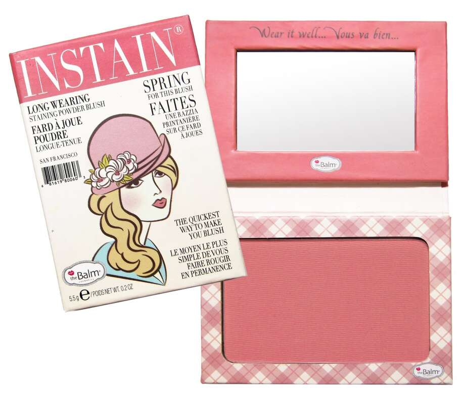 Instain Long-wearing Powder Staining Blush.. It's a blush; it's a stain; it's your new secret weapon. Shipman invented this to avoid touch-ups throughout the day, and it looks like she scored a touch-down. Instain boasts an incredibly fine powder that goes on without smearing your concealer, leaving behind a non-powdery flush for days. Plus the mini magazine-style packaging is insane(ly cute). www.thebalm.com, $22 (Shown: Argyle) Photo: TheBalm Cosmetics