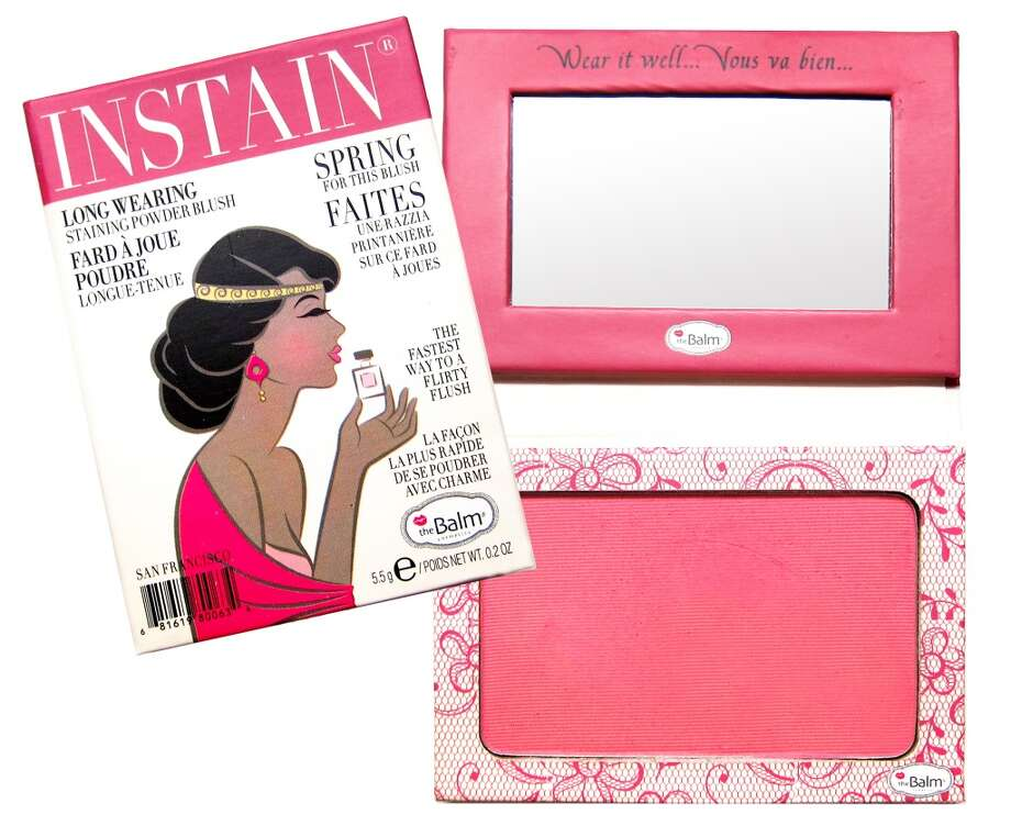 Instain Long-wearing Powder Staining Blush.. It's a blush; it's a stain; it's your new secret weapon. Shipman invented this to avoid touch-ups throughout the day, and it looks like she scored a touch-down. Instain boasts an incredibly fine powder that goes on without smearing your concealer, leaving behind a non-powdery flush for days. Plus the mini magazine-style packaging is insane(ly cute). www.thebalm.com, $22 (Shown: Lace) Photo: TheBalm Cosmetics