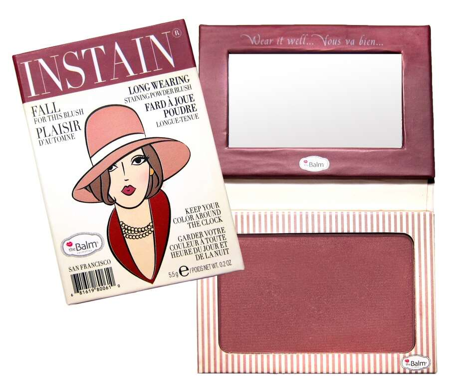 Instain Long-wearing Powder Staining Blush.. It's a blush; it's a stain; it's your new secret weapon. Shipman invented this to avoid touch-ups throughout the day, and it looks like she scored a touch-down. Instain boasts an incredibly fine powder that goes on without smearing your concealer, leaving behind a non-powdery flush for days. Plus the mini magazine-style packaging is insane(ly cute). www.thebalm.com, $22 (Shown: Pinstripe) Photo: TheBalm Cosmetics