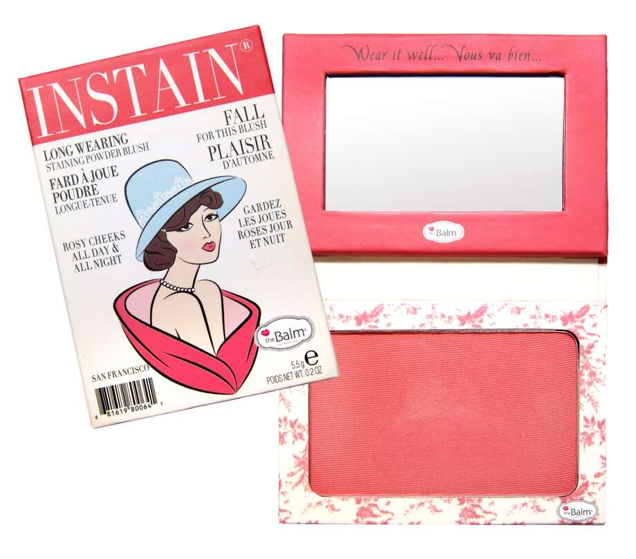 Instain Long-wearing Powder Staining Blush.. It's a blush; it's a stain; it's your new secret weapon. Shipman invented this to avoid touch-ups throughout the day, and it looks like she scored a touch-down. Instain boasts an incredibly fine powder that goes on without smearing your concealer, leaving behind a non-powdery flush for days. Plus the mini magazine-style packaging is insane(ly cute). www.thebalm.com, $22 (Shown: Toile) Photo: TheBalm Cosmetics