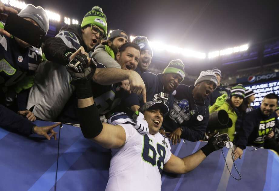 9. How can Seattle improve the o-line? If there's one soft spot on the Seahawks' roster it's the offensive line, who were just average at best in 2013. Certainly, injuries to tackles Russell Okung and Breno Giacomini and center Max Unger hurt, but even when the unit was at full strength, it failed to open up holes in the running game with any real regularity and oftentimes caused Russell Wilson to run for his life on pass attempts. Giacomini's contract is up, and it would be fairly shocking to see him back. The Hawks could either go with Alvin Bailey – who performed well at times during his rookie season after signing as an undrafted free agent – or this could be a position that the team tries to address in the draft. On the inside, expect 2011 first-round pick James Carpenter and 2013 seventh-round pick Michael Bowie to battle it out at left guard. Photo: Jeff Roberson, ASSOCIATED PRESS