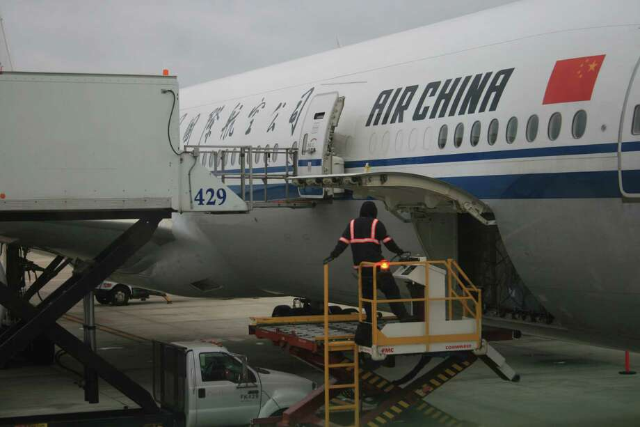 Air China flies between Bush Intercontinental Airport and Beijing using Boeing 777 jetliners. December 2013. (Bill Montgomery  /  Houston Chronicle) Photo: Bill Montgomery