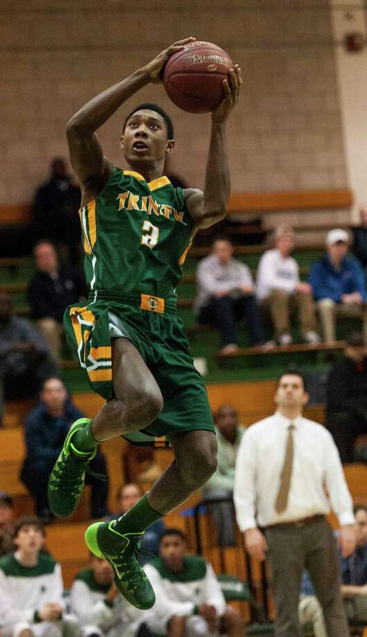Tremaine Frasier, Trinity Catholic. FCIAC First Team. Photo: Mark Conrad / Connecticut Post Freelance