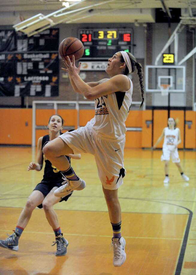 Bethlehem's Gabby Giacone goes in for a score during their girl's high school basketball game against Averill Park on Tuesday Feb. 4, 2014 in Delmar, N.Y. (Michael P. Farrell/Times Union) Photo: Michael P. Farrell / 00025622A