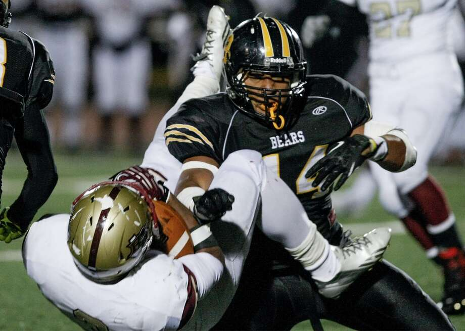 10. Grant Watanabe, Brennan (right): LB, 5-11, 225, Colorado Photo: MARVIN PFEIFFER, San Antonio Express-News