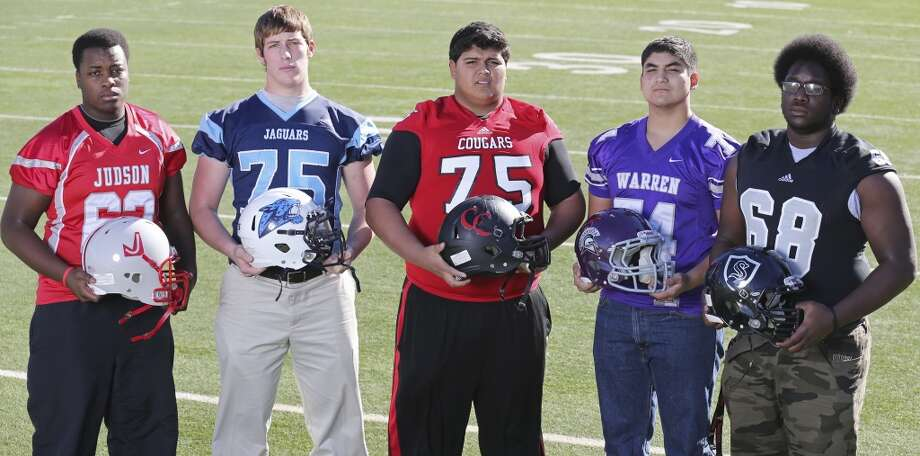 11. Deionte Noel, Steele (far right):OL, 6-4, 290, Texas Tech Photo: Edward A. Ornelas, San Antonio Express-News
