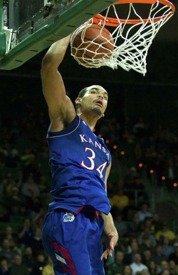 Perry Ellis of Kansas shows how easy it was most of the night for the Jayhawks during their 69-52 Big 12 victory over Baylor at the Ferrell Center. Photo: Cooper Neill / Getty Images / 2014 Getty Images