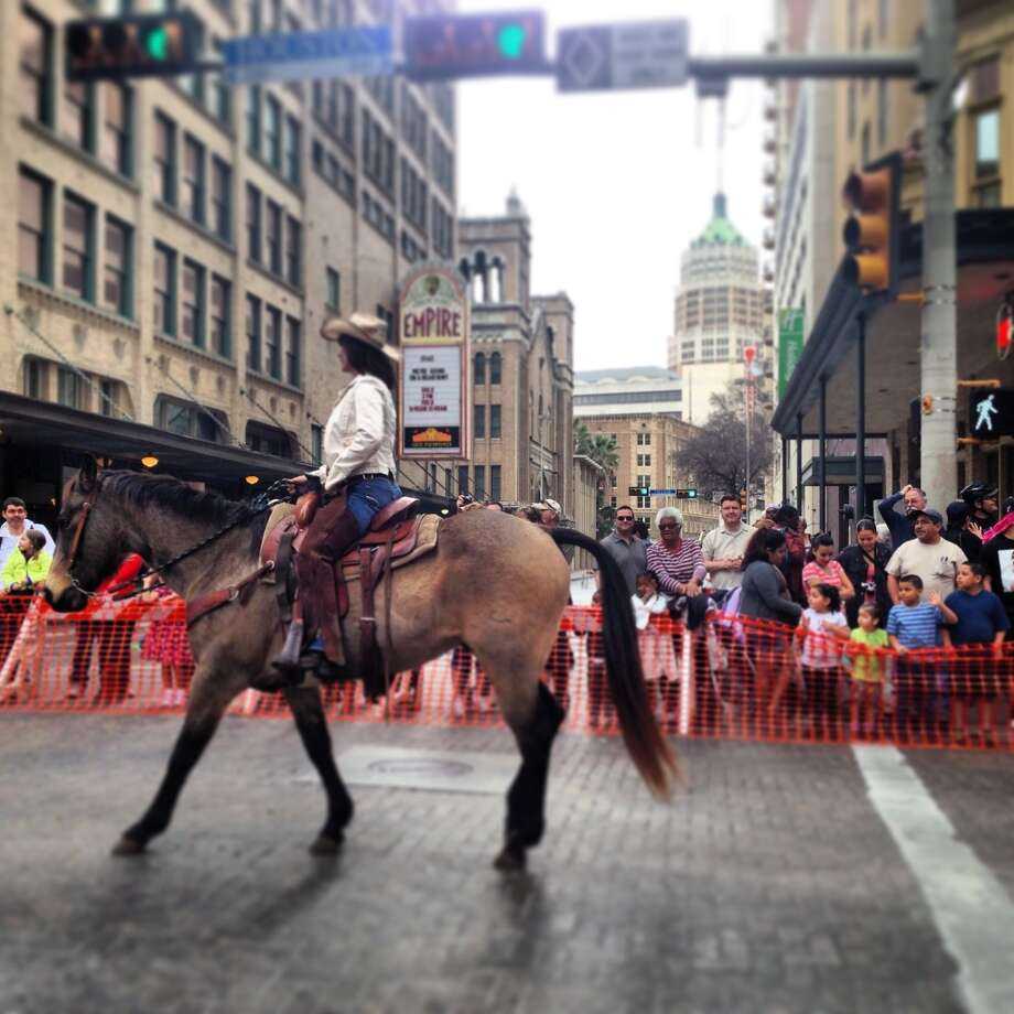 The Western Heritage Parade comes to a close on Houston Street Feb. 1.