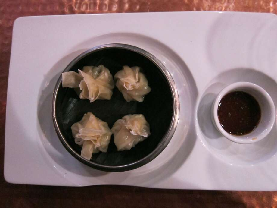Shrimp dumplings with soy lime ginger sauce at Trenza. Photo: Alison Cook