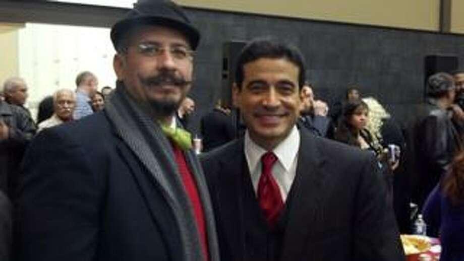 Ricardo Ruiz (left) showcases his mustache Photo: Ricardo Ruiz, Courtesy