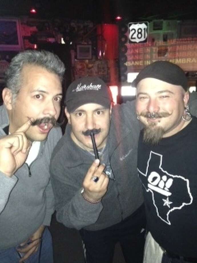 Ricardo Ruiz (left) compares his mustache in San Antonio Photo: Ricardo Ruiz, Courtesy