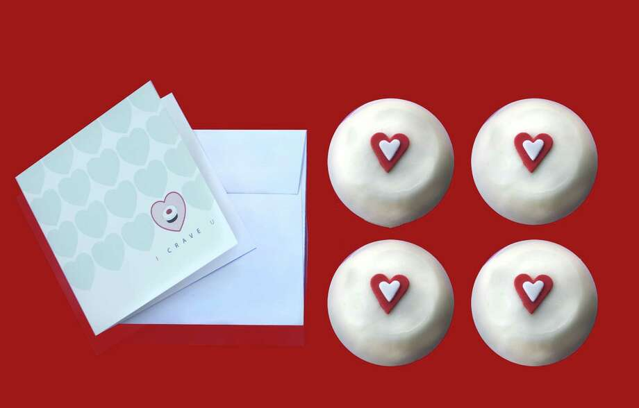 It's Valentine's on the go at Crave Cupcakes in Uptown Park. Opening at 8 a.m. Feb. 14, Crave's curb-side kiosk will offer a box of four red velvet cupcakes with a Valentine's card for $20. 1151 Uptown Park Blvd., 713-622-7283 Photo: Courtesy Photo / ONLINE_YES