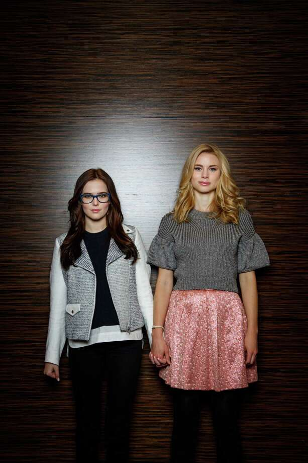 Zoey Deutch, left, and Lucy Fry star in the upcoming movie Vampire Academy, while posing for a photo at Hotel Derek, Wednesday, Jan. 29, 2014, in Houston. ( Michael Paulsen / Houston Chronicle ) Photo: Michael Paulsen, Staff / © 2014 Houston Chronicle