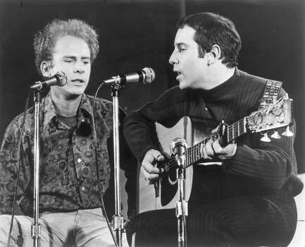 03/14/1967. Paul Simon, Right, and Art Garfunkel.     HOUCHRON CAPTION (08/21/2001):  Remember these guys? The '60s duo Simon & Garfunkel (Paul Simon, right, and Art Garfunkel) is on music store shelves today with five restored albums. / HANDOUT PHOTO