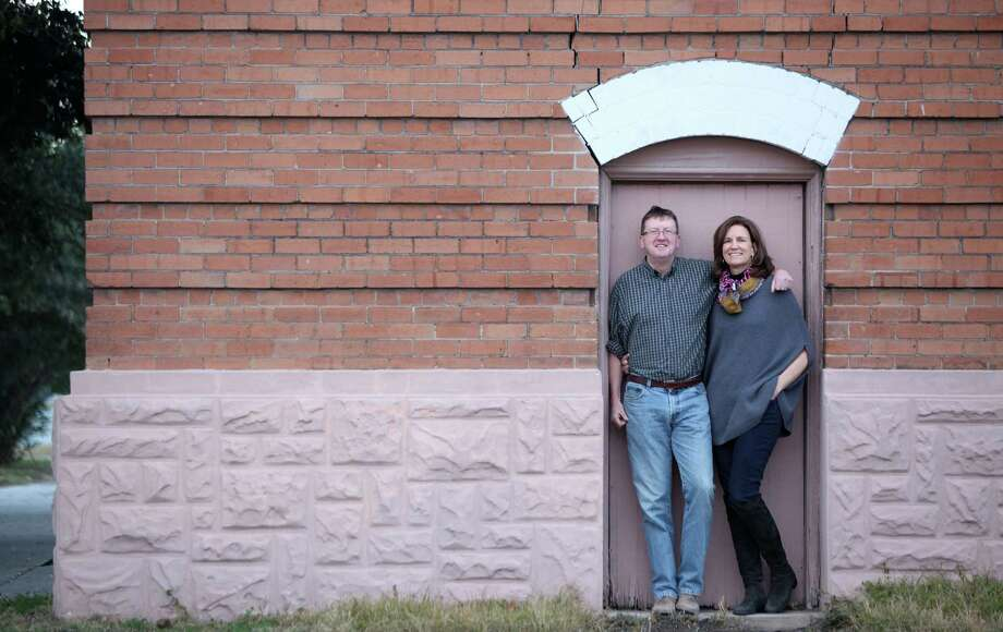 Michael Skelly and Anne Whitlock, working with architect Joe Meppelink, will renovate and live in the East End's old Firehouse No. 2. Photo: Mayra Beltran, Staff / © 2013 Houston Chronicle