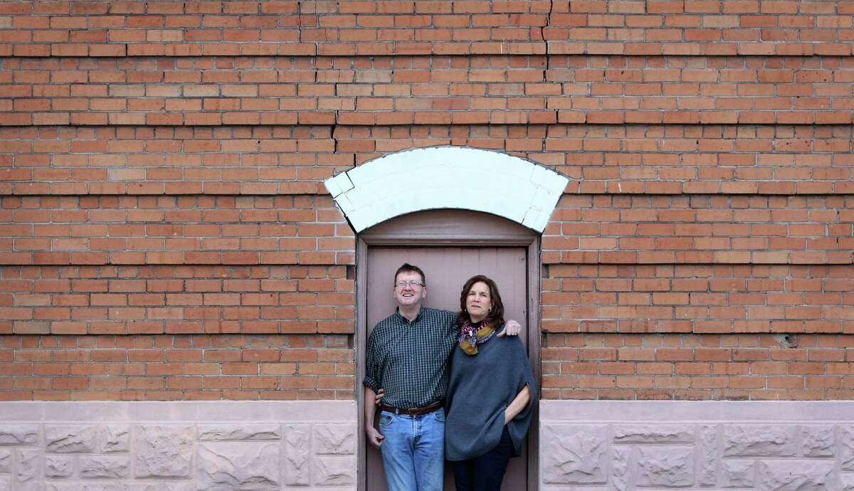 Michael Skelly and wife Anne Whitlock will renovate Fire Station #2 on Sampson St. and they will be adding victorian homes in the surrounding lot to sell to their friends on Saturday, Jan. 18, 2014, in Houston. ( Mayra Beltran / Houston Chronicle )
