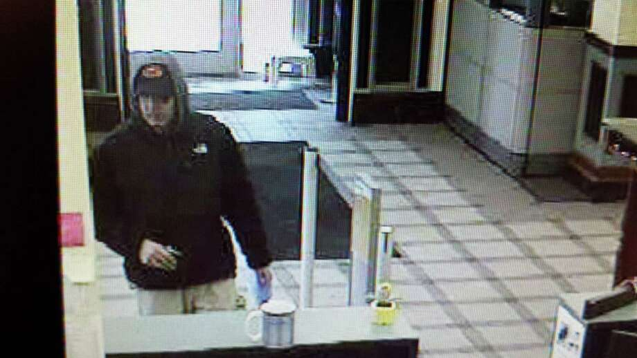 Police said this man robbed the First Niagara Bank, 33 Third Street, at 11:13 a.m. Wednesday, making off with an undisclosed amount of cash. (Troy Police Department)