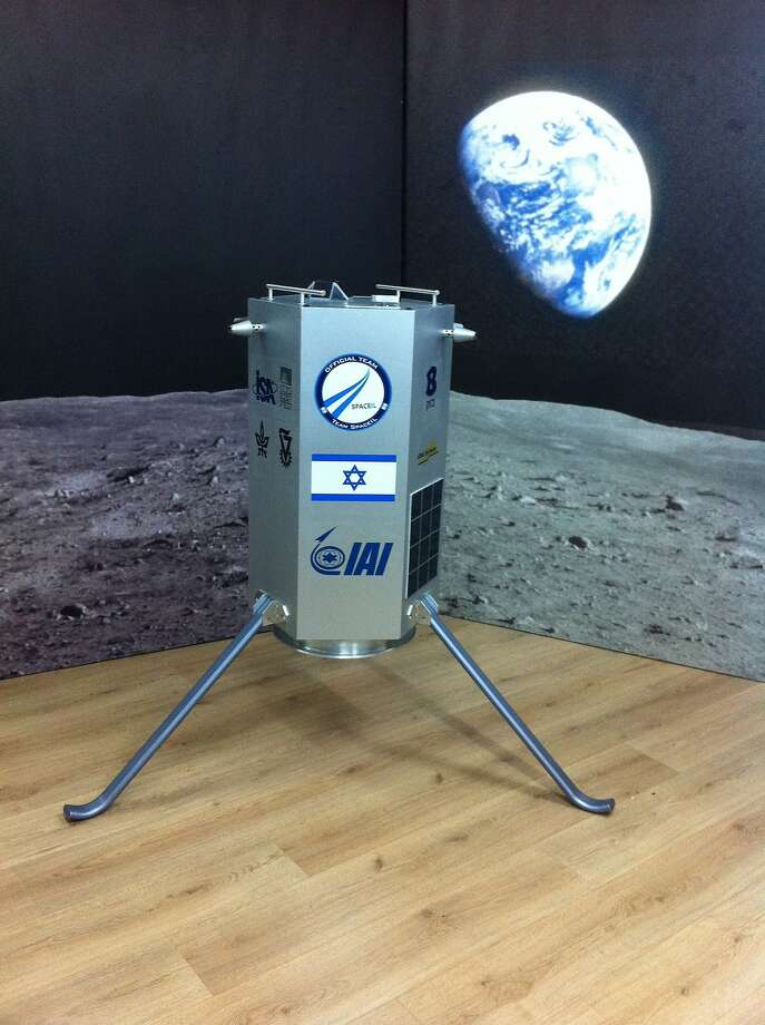 SpaceIL is trying to create the tiniest (and least expensive) craft possible to make a safe moon landing, move 500 meters and transmit images back to mission control. Sparrow, as it's known, is about the size of a washing machine and is targeted to come in at $36 million in costs. Photo: SpaceIL