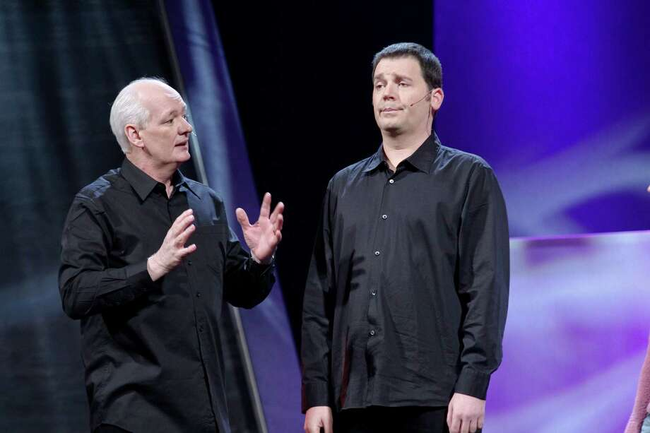 Colin Mochrie and Brad Sherwood. The comedic pair will be at Proctors on May 11, 2018.