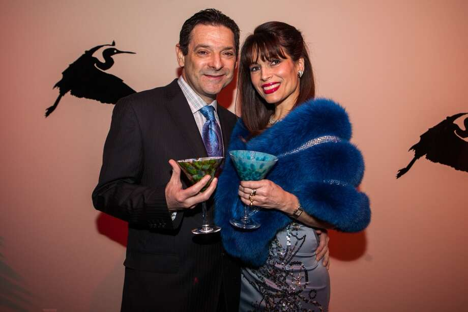 Carlos and Karina Barbieri at the Houston Center for Contemporary Craft Thursday January 30. Martini Madness Photo: Michael Starghill,  Jr.