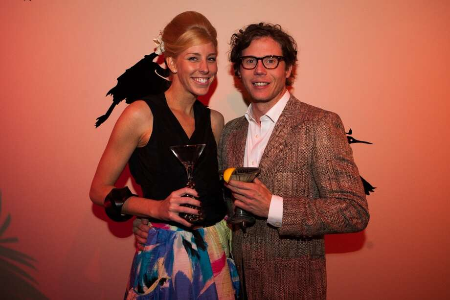 Lindsey George and Will Walsh pose during Martini Madness at the Houston Center for Contemporary Craft. Photo: Michael Starghill, Jr.