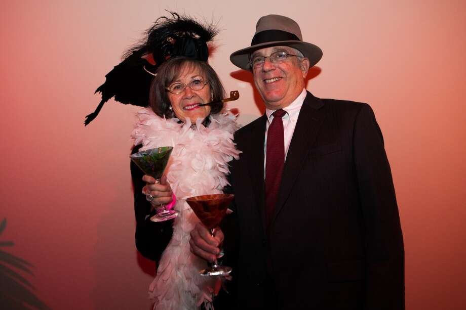 Richard and Kathryn Rabinow pose during Martini Madness at the Houston Center for Contemporary Craft Thursday January 30. Photo: Michael Starghill, Jr.
